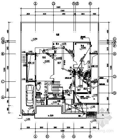[海南]别墅建筑B型住宅电气施工预埋图