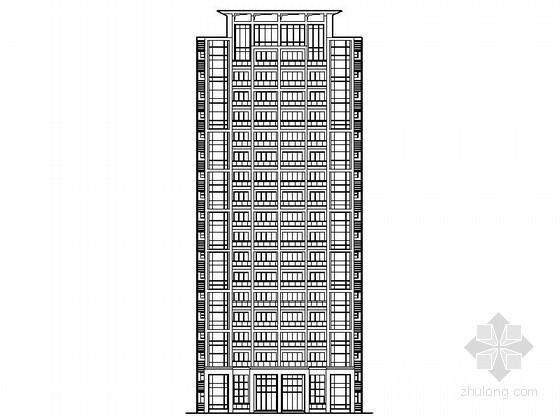 [中山]某十八层一梯四户住宅楼建筑施工图