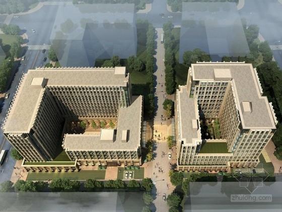 [上海]新古典风格办公区规划及单体设计方案文本