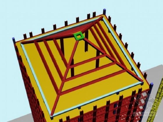 四角钢梁安装示意图