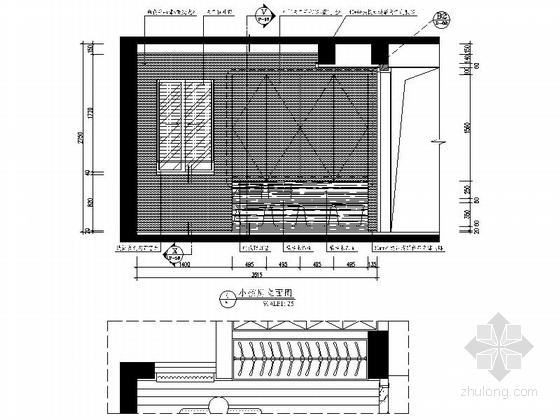 [杭州]现代简约三居室样板间装修图(含效果)小孩房立面图