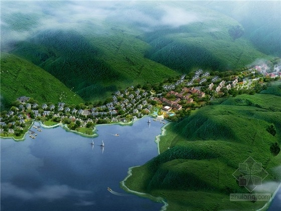 [湖北]新中式风格温泉度假村规划方案文本