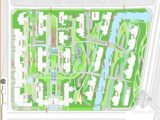 [上海]滨水宜居生态小区景观规划设计方案