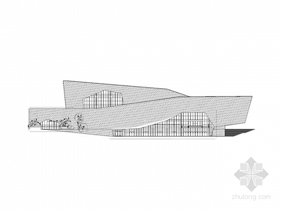 四层现代风格大型展览馆建筑施工图