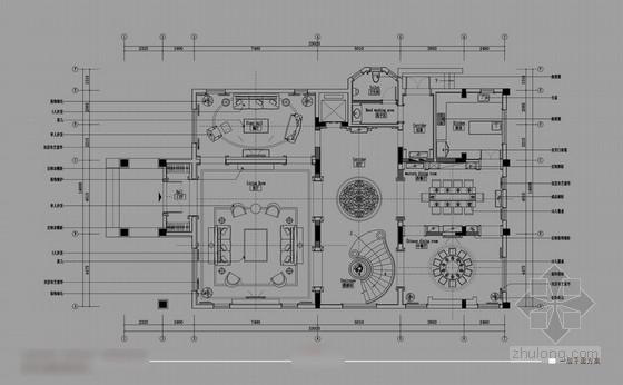 [广州]美式风格五层别墅室内设计方案图