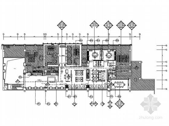 [深圳]全球连锁酒店高档行政餐厅装修施工图(含效果)