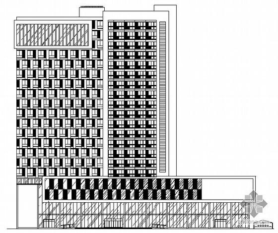 [济南]某现代高层住宅小区楼群组团(住宅、幼儿园、酒店式公寓)建筑扩初图(带效果图及说明)