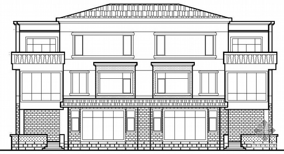 某三层美式双拼小别墅建筑施工图