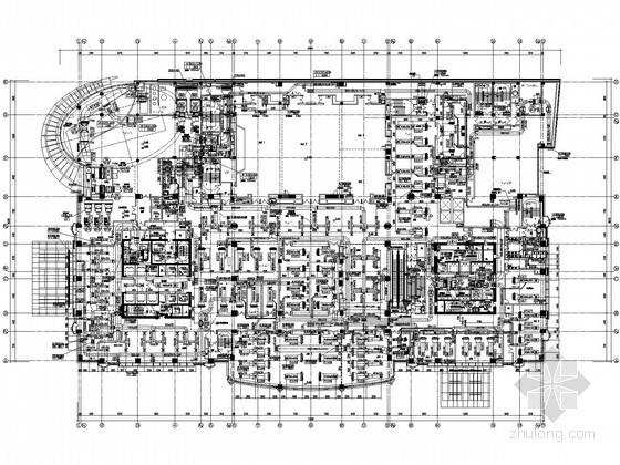 [江苏]超高层城市综合体空调通风设计施工图110张(20万平 174米)