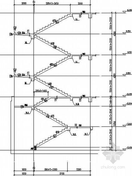 框架结构3部楼梯节点构造详图