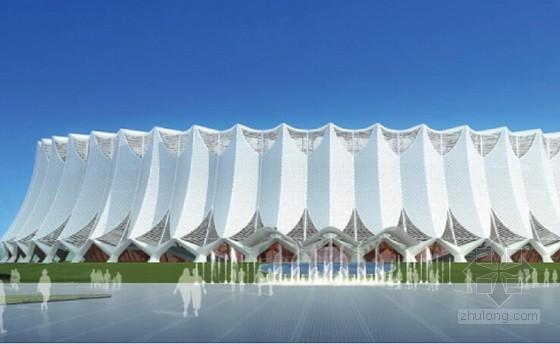 [创新QC]体育馆立面折曲网格施工方法创新