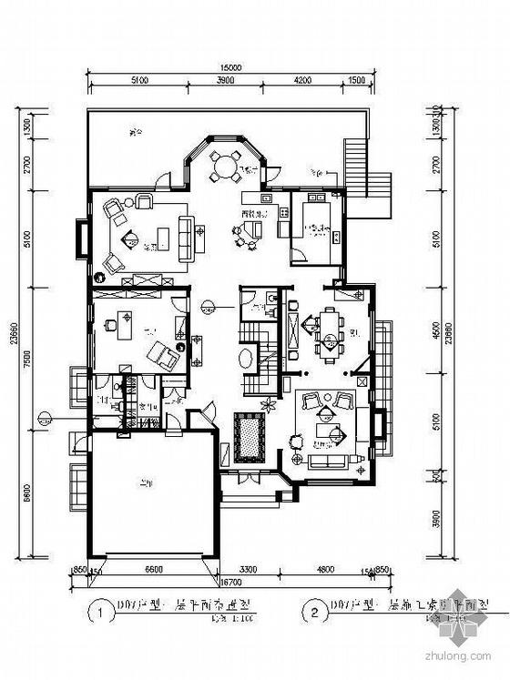 [北京]欧式别墅D07型装修图