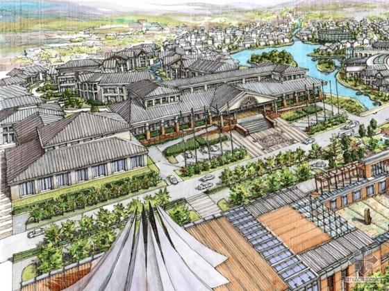 [丽江]某超五星级花园式酒店概念性规划设计文本