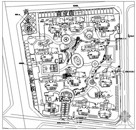 成都居住区景观设计施工图