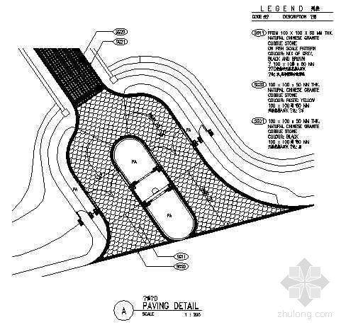 主要入口车道平面图