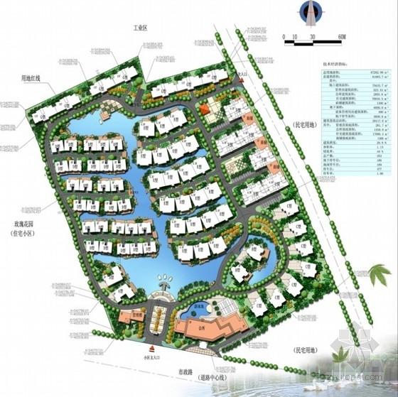 [东莞]西班牙风格滨水生态别墅区景观规划设计方案