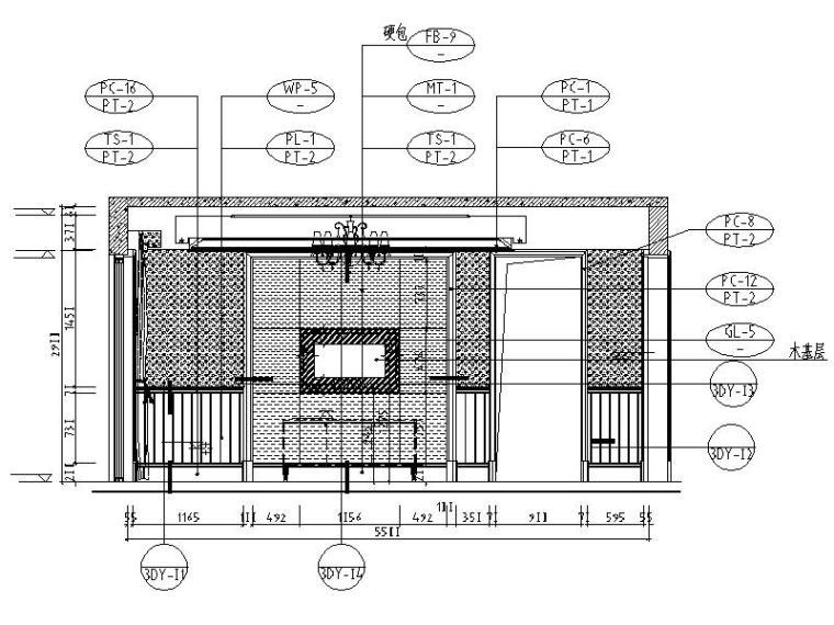 [成都]精品3层别墅样板间室内设计施工图(含效果图、材料表)_3