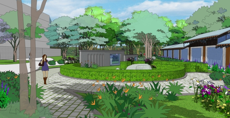 山东艺术学院碑林及周边景观设计
