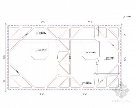 [浙江]15米深基坑灌注桩加两道内支撑支护施工图(附基坑支护计算书)