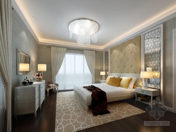 时尚清新卧室3D模型下载