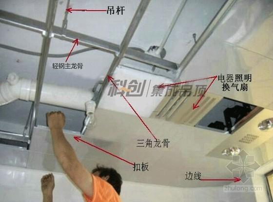 装修施工吊顶安装样板展示
