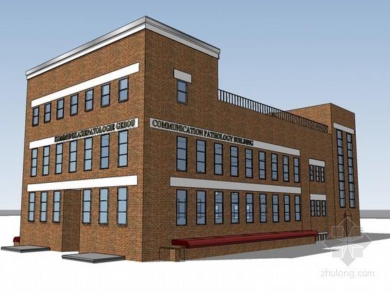 某学院建筑SketchUp模型下载