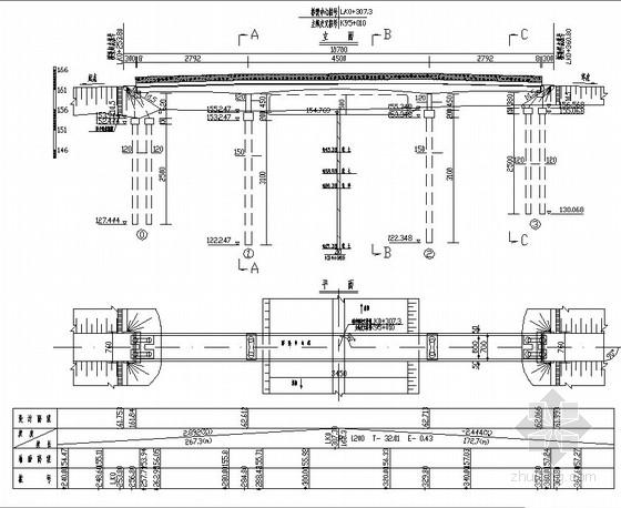 [河南]变截面连续箱梁天桥设计图(全套)