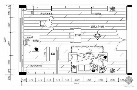某壁纸专卖店设计施工图