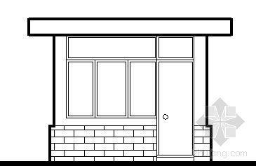 某单层小岗亭建筑方案图