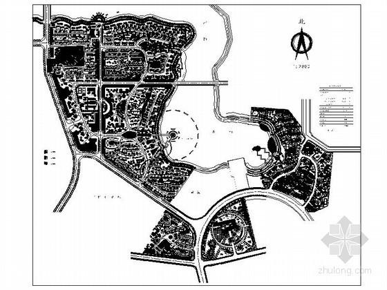 某53公顷地块花园居住区规划方案总平面图