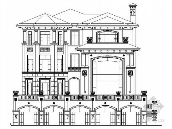 [深圳]某三层别墅样板房建筑施工图