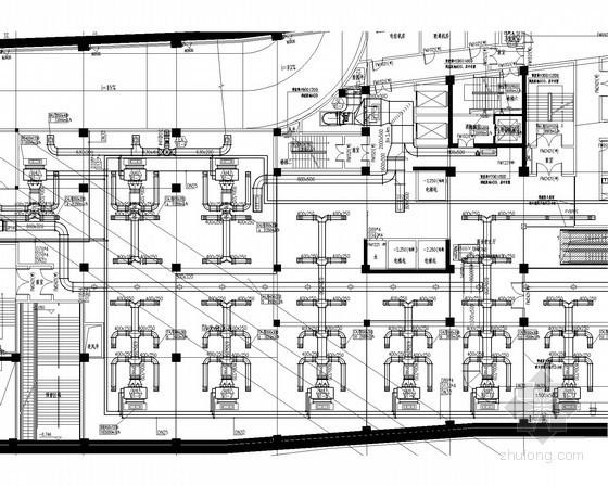 高层办公楼通风空调防排烟系统设计施工图(含锅炉房设计)