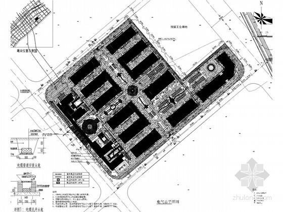 [浙江]16万平标准厂房二期工程超全强弱电施工图纸310张(甲级设计院)