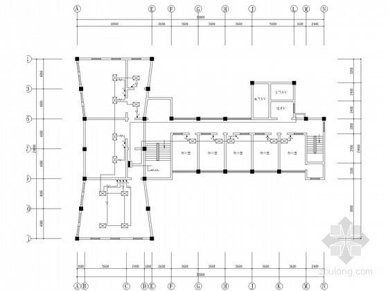 [湖南]行政大院办公及宿舍楼空调系统设计施工图(含空调配电)