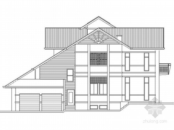 [广州]某南堤二层豪华别墅建筑施工图(659平方米)