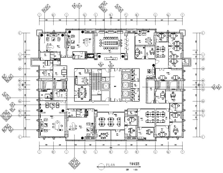 [四川]重庆某大厦办公室装饰施工图