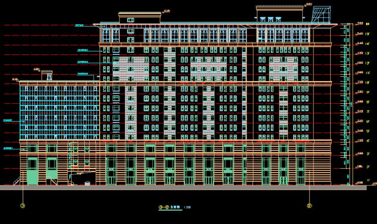 华东设计院——高层现代框剪结构广场归档施工图