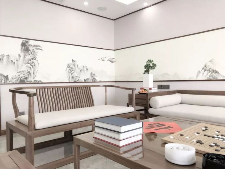 新中式徽派元素山水画为轴线的家装设计_11