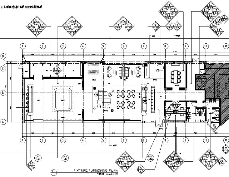 华润国际社区售楼处设计施工图(附效果图+物料表+软装清单)
