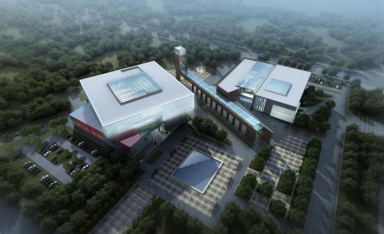 鞍山市科技馆、档案馆建筑模型设计—上海联创