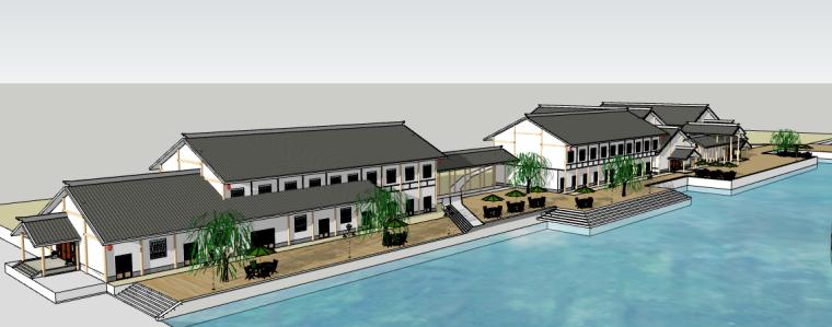 40个商业街景观建筑su模型合集(2)