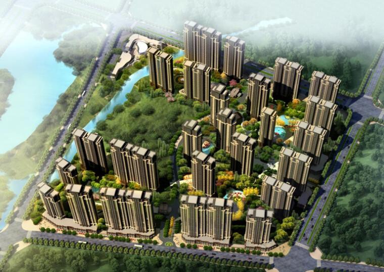 [安徽]滨水地块规划设计及欧式典雅风格住宅建筑设计方案文本