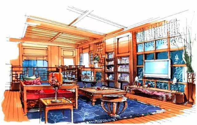 这么美的室内设计手绘图,你见过吗?