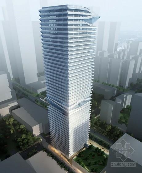 [深圳]某48层企业办公楼建筑方案文本(204米)
