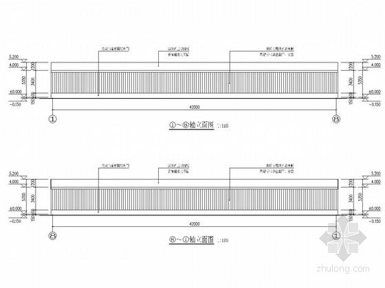 42米长光伏农业大棚建筑结构全套图