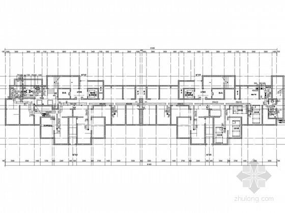 [河北]高层住宅建筑采暖通风及防排烟系统设计施工图(人防设计)