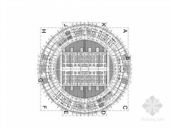 [上海]大型现代风格交通枢纽站设计施工图-大型现代风格交通枢纽站平面图