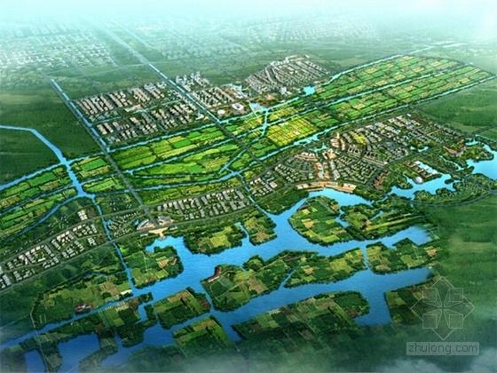 [山东]现代风格生态城市片区规划设计方案文本