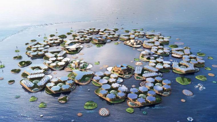 """让联合国如此重视的2050""""水上城市""""计划,看BIG如何打造科幻大"""
