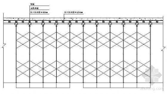 楼板模板系统立面图